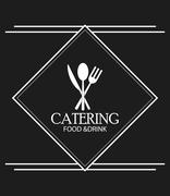 cutlery catering service menu food icon - stock illustration