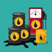oil industry production petroleum icon - stock illustration