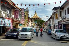 China Street in Kuching Stock Photos