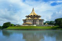Sarawak State Legislative Assembly in Kuching Stock Photos