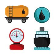 Oil industry production petroleum icon Stock Illustration