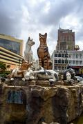 Cats monument at center of Kuching Stock Photos