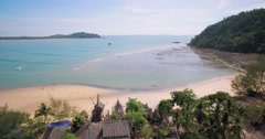 Buffalo Bay on Koh Phayam Thailand, Aerial Pan shot Stock Footage