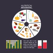 nutrition infographic food icon - stock illustration