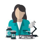 Doctor medical health care icon Stock Illustration
