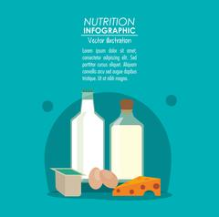 Nutrition infographic food icon Stock Illustration