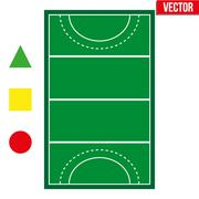 Set of most popular sample sport fields Stock Illustration