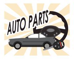 rudder auto parts repair icon - stock illustration