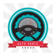 Rudder auto parts repair icon Stock Illustration
