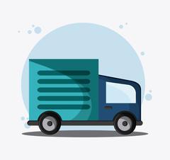 Truck transportation vehicle travel, vector Stock Illustration