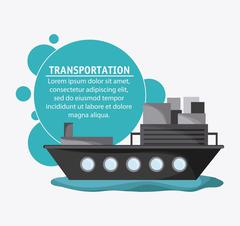 Ship transportation vehicle travel, vector Stock Illustration