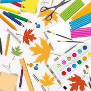 Back to school. Stationary graphic template Stock Illustration