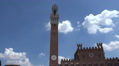 Piazza del Campo and Town Hall,Siena,ULTRA HD 4K, real time Stock Footage