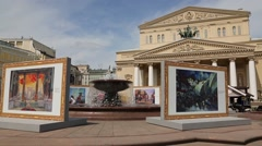 State Academic Bolshoi Theatre of Russia Stock Footage