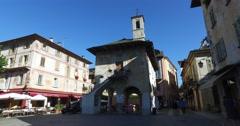 Orta San Giulio, Lake Orta, Piedmont, Italy Stock Footage