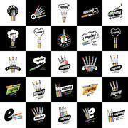 Vector logo electronic cigarette Stock Illustration