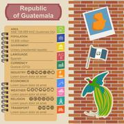 Guatemala infographics, statistical data, sights Stock Illustration