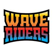 Wave riders t shirt typography graphics rainbow Stock Illustration