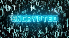 Bluish Encrypted concept with digital code Stock Footage