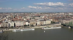 View over the River Danube to Pest in Budapest, Hungary. - stock footage