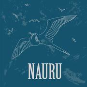 Nauru. Retro styled image Stock Illustration