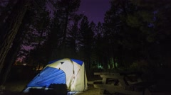 Camping in the NEW SHADY REST CAMPGROUND Stock Footage