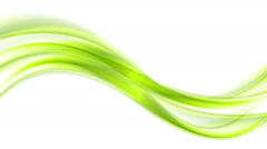 Green and orange moving flowing waves video animation Stock Footage