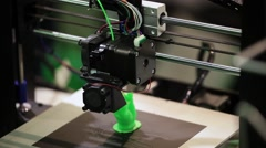 3d printer printing Stock Footage