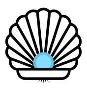 Sea shell vector icon Stock Illustration