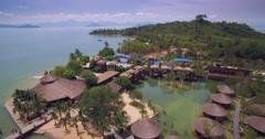 Luxury Resort in a Lagoon on the Coast of Koh Phayam Thailand Stock Footage