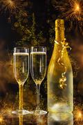 New Year celebration Stock Photos