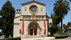 Historic Church in Downtown Los Angeles Stock Footage