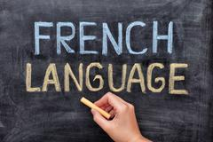 French language Stock Photos