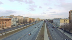 Ariel view. Moscow traffic 4K Stock Footage