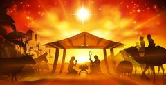 Christmas Nativity Scene Stock Illustration