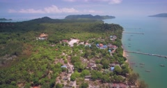 Koh Phayam in the Andaman Sea in Thailand, Aerial Ascending Shot Stock Footage