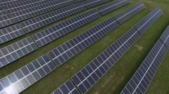 Flying camera over the solar panels. Stock Footage