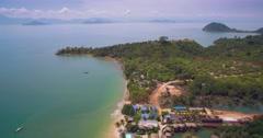 Aerial Pan Shot of Koh Phayam in Ranong, Thailand Stock Footage