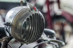 Detail view of light classic car Stock Photos