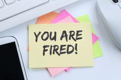 You are fired employee losing jobs, job working unemployed business concept d Stock Photos