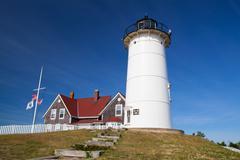 Nobska Point Light is a lighthouse located on the Cape Cod, USA Kuvituskuvat