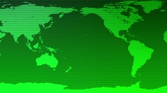 Digital World Map Seamless Motion Background Green Stock Footage