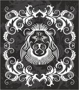 Heraldic Lion Head Stock Illustration