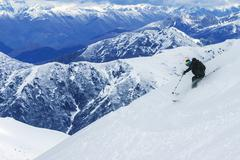 Freeride in Chile Stock Photos