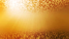 Seamless loop warm orange underwater wave with sun rays beam mosaic tile. Stock Footage
