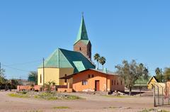 Lutheran church in Berseba, Namibia - stock photo