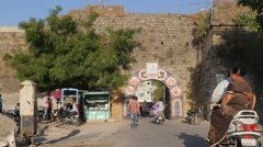 Gate to the town,Diu,India Stock Footage