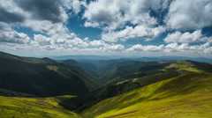 4K beautiful time lapse landscape summer in the Carpathian Mountains Stock Footage