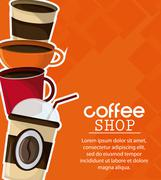 Coffee mug cup shop beverage icon Stock Illustration