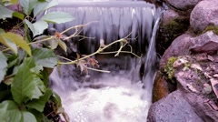 Castle stone waterfall 2 Stock Footage